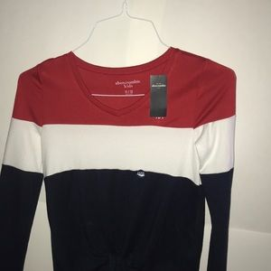 Light weight long sleeve red white and blue